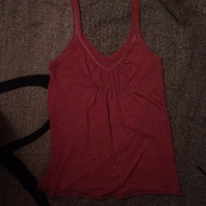 Maroon Abercrombie and Fitch tank top
